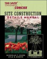 Time-Saver Standards Site Construction Details Manual