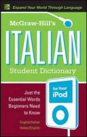 McGraw-Hill's Italian Student Dictionary for your iPod - Dioguardi, R.