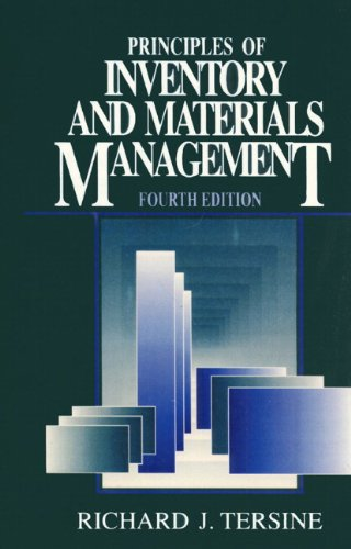 Principles of Inventory and Materials Management (4th Edition) - Richard J. Tersine