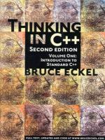 Thinking in C++. Volume 1