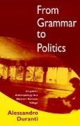 From Grammar to Politics: Linguistic Anthropology in Westernsamoa Village