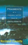 Fragments of a Farewell Letter Read by Geologists