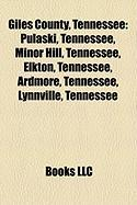 Giles County, Tennessee: National Register of Historic Places Listings in Giles County, Tennessee