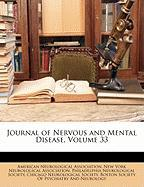 Journal of Nervous and Mental Disease, Volume 33