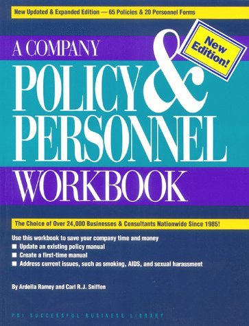 Company Policy and Personnel Workbook (PSI Successful Business Library) - Ardella Ramey