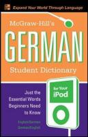 McGraw-Hill's German Student Dictionary for your iPod