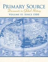 Primary Source: Documents in World History, Volume 2