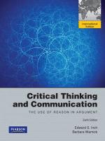 Critical Thinking and Communication: The Use of Reason in Argument