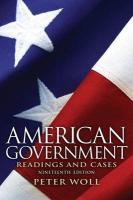 American Government: Readings and Cases