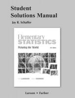 Student Solutions Manual for Elementary Statistics: Picturing the World