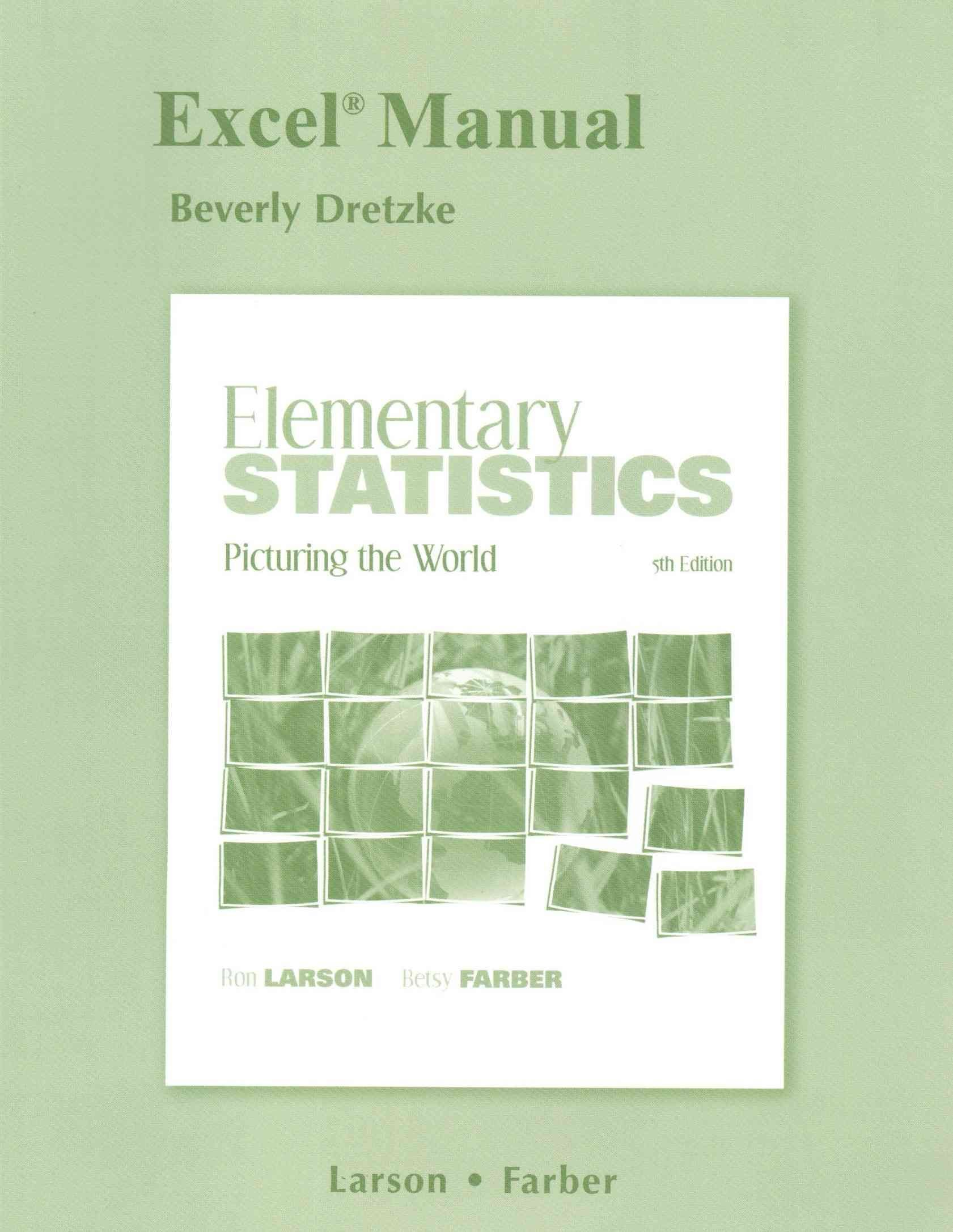 Excel Manual for Elementary Statistics - Ron Larson
