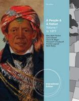 A People and a Nation: To 1877 v. 1: A History of the United States