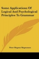 Some Applications of Logical and Psychological Principles to Grammar - Peter Magnus Magnusson