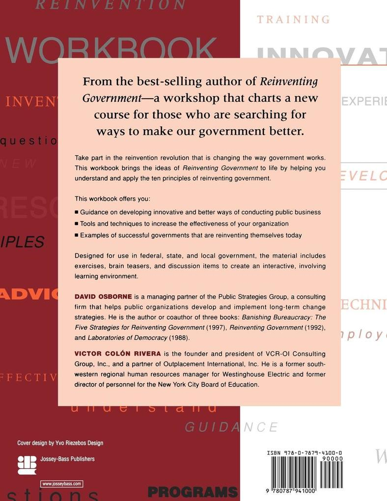 The Reinventing Government Workbook als Taschenbuch von David Osborne, Victor Colon Rivera, Victor Colon Rivera - John Wiley & Sons
