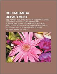 Cochabamba Department - Books Llc