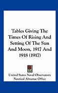 Tables Giving the Times of Rising and Setting of the Sun and Moon, 1917 and 1918 (1917)