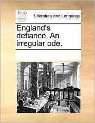 England's defiance. An irregular ode.