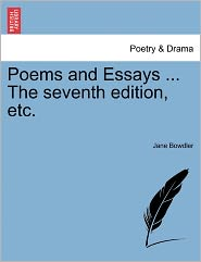 Poems And Essays ... The Seventh Edition, Etc. - Jane Bowdler