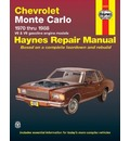Chevrolet Monte Carlo 1970-88 V6 and V8 Owner's Workshop Manual - Curt Choate