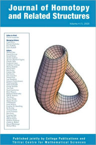 Journal of Homotopy and Related Structures 4(1) Hvedri Inassaridze Editor