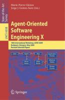 Agent-Oriented Software Engineering X