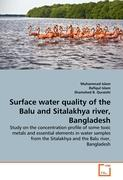 Surface water quality of the Balu and Sitalakhya river, Bangladesh