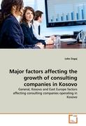 Major factors affecting the growth of consulting companies in Kosovo