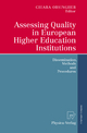 Assessing Quality in European Higher Education Institutions - Chiara Orsingher