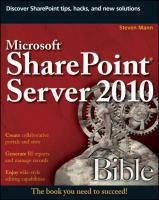 Microsoft SharePoint Server 2010 Bible