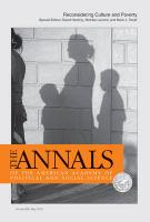 Reconsidering Culture and Poverty (The Annals of the American Academy of Political and Social Science Series, Band 629)