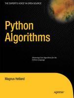 Python Algorithms: Mastering Basic Algorithms in the Python Language Magnus Lie Hetland Author