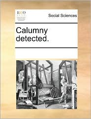 Calumny detected. - See Notes Multiple Contributors